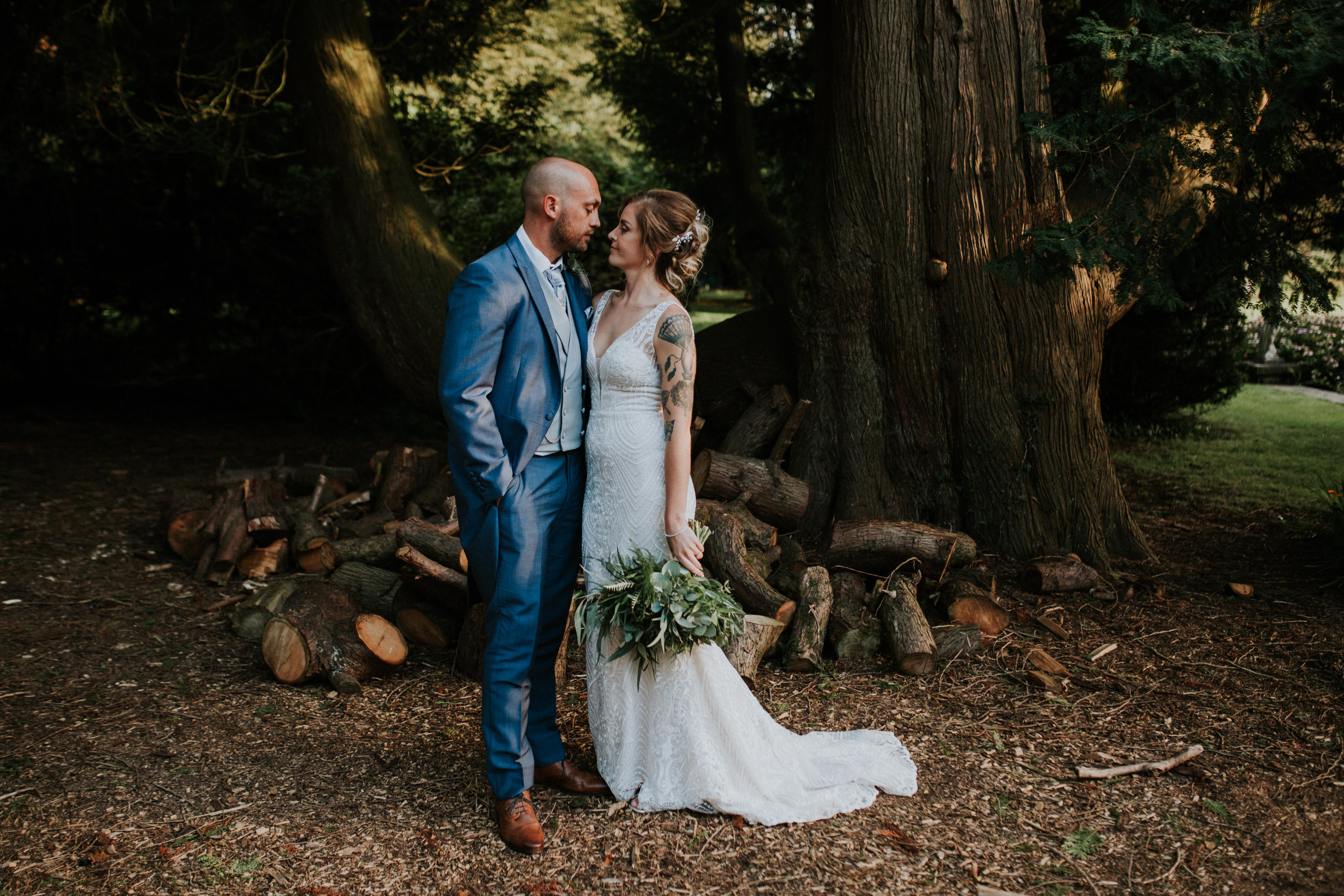 bridebride and groom portraits