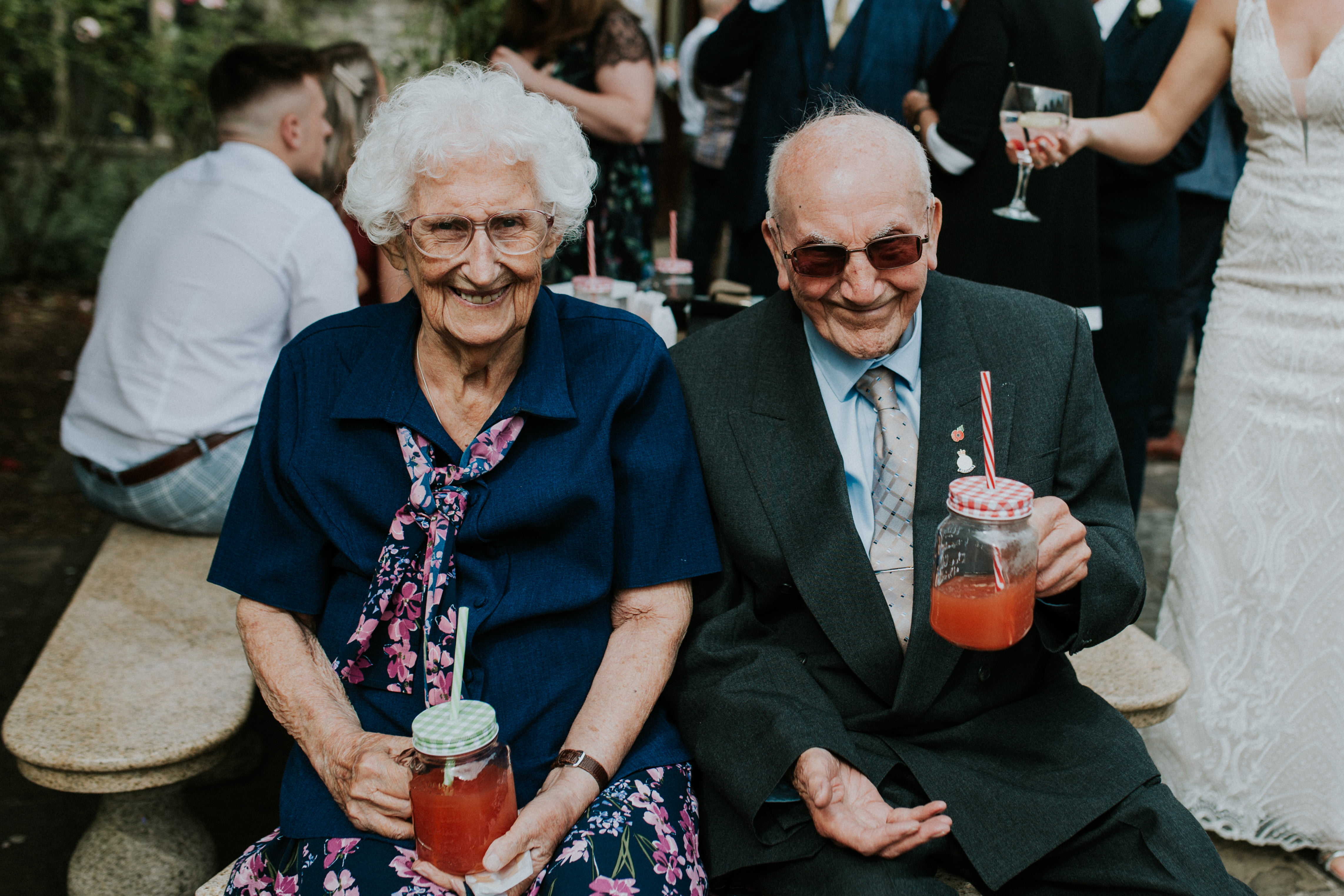 brides grandparents smiling