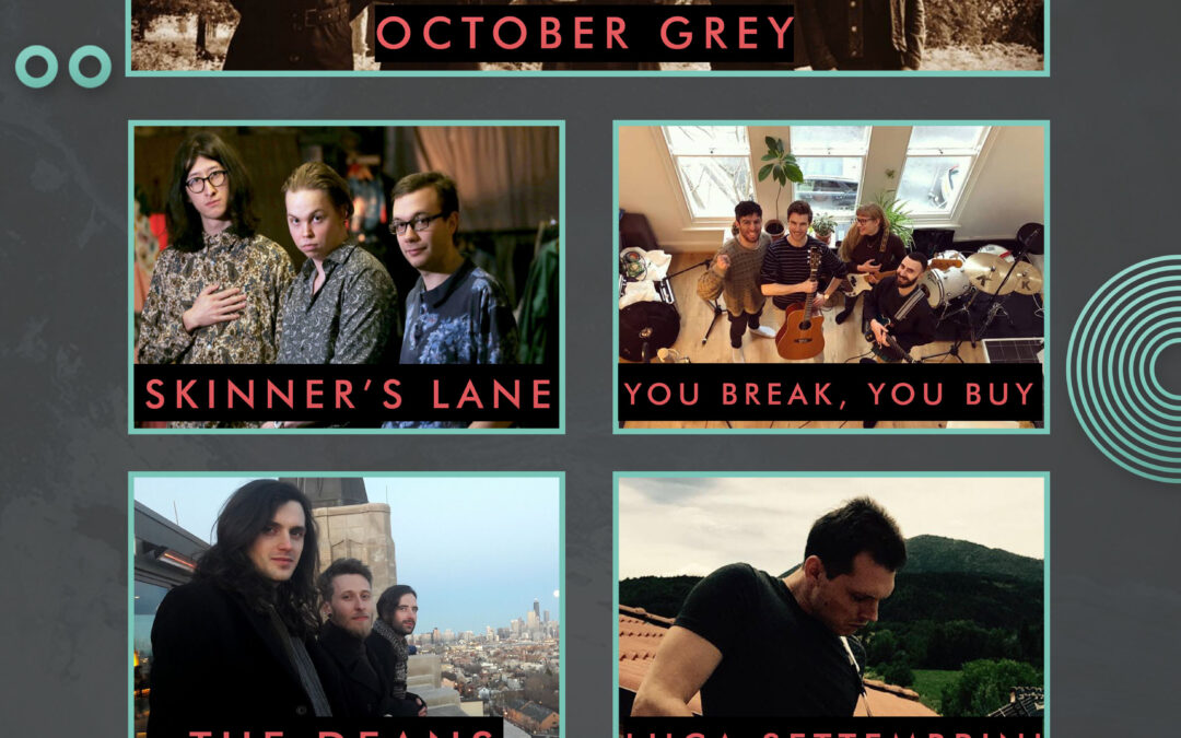 October Grey // Skinner's Lane // You Break, You Buy // The Deans // Luca Settembrini'
