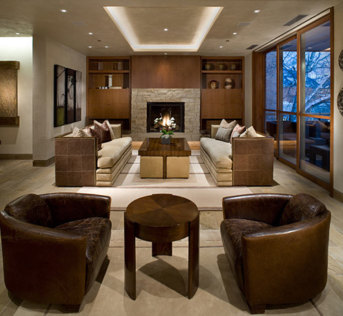 Mountain Contemporary Living Room