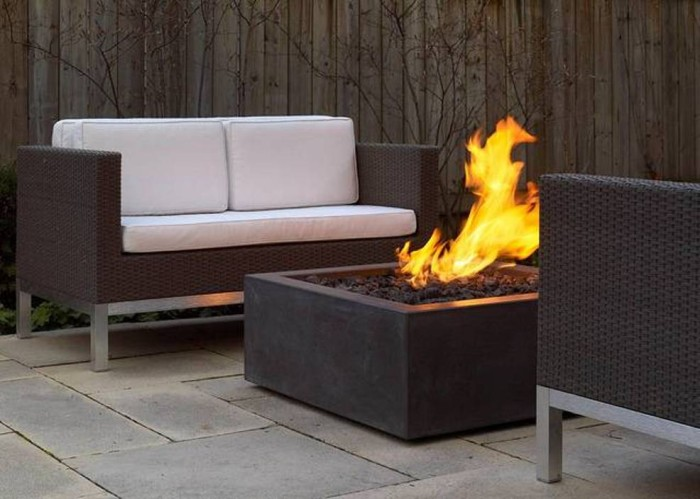 Rectangular Modern Fire Pit