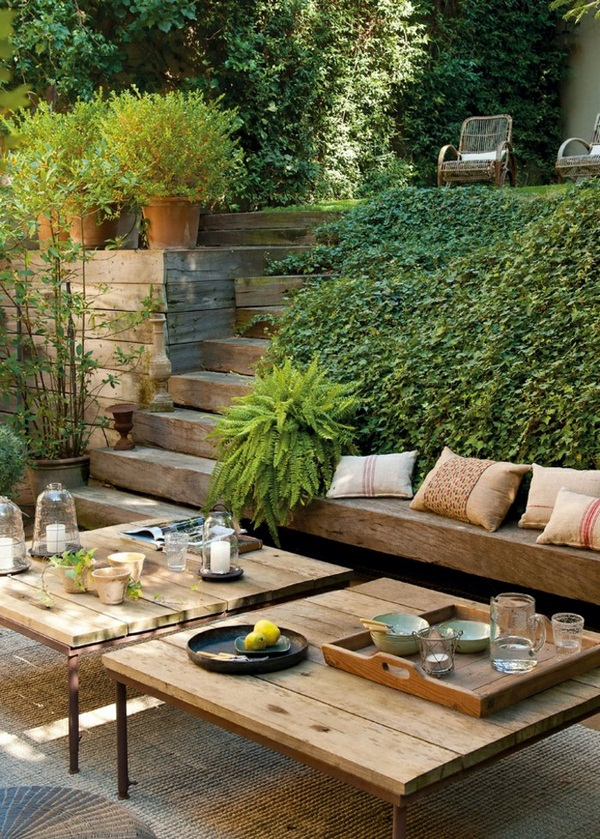 Rustic garden furniture