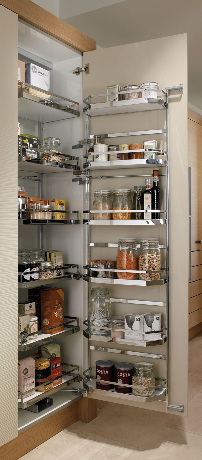 A pull-out larder