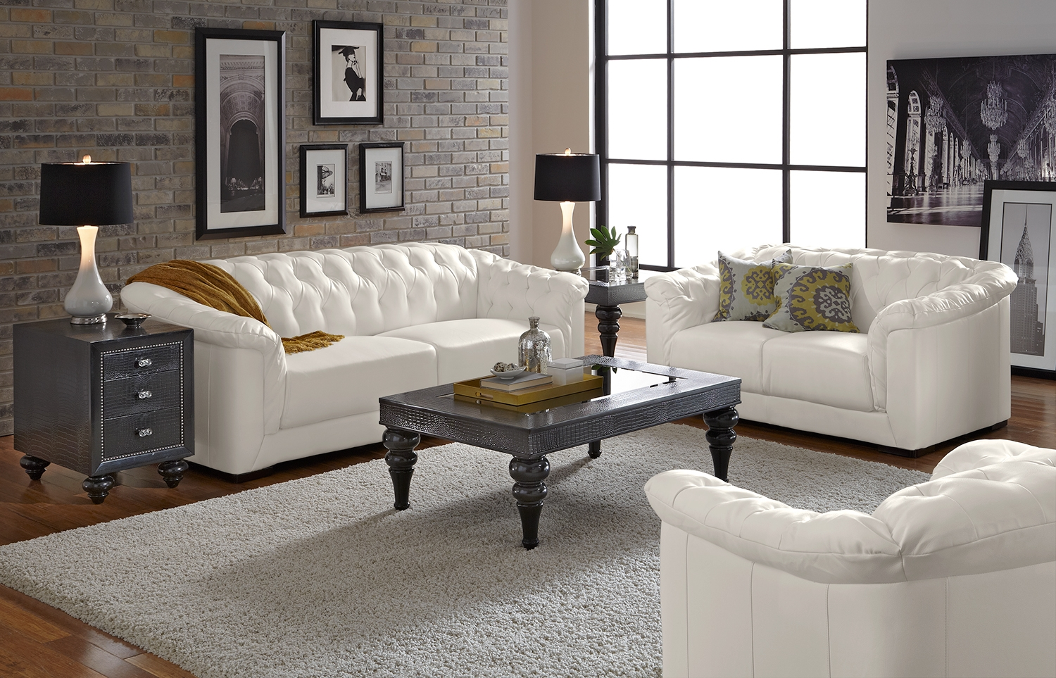 Awasome-Tufted-Leather-Sofa