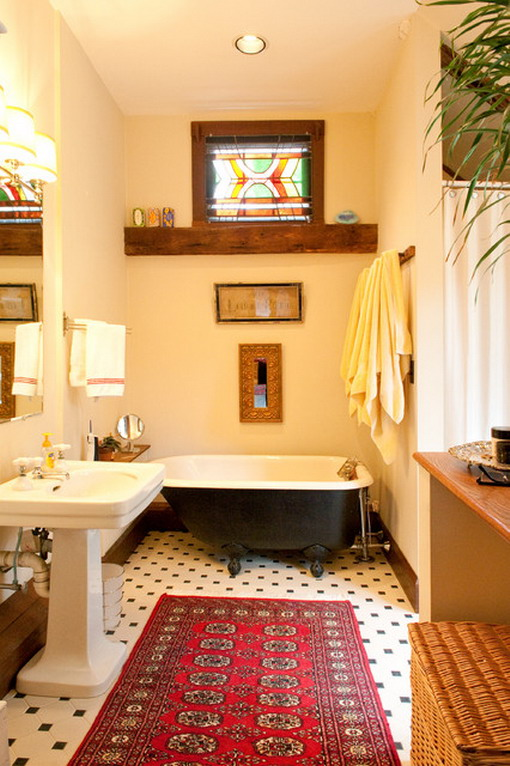 Corner-Kids-Tubs-in-Small-Farmhouse-Bathroom