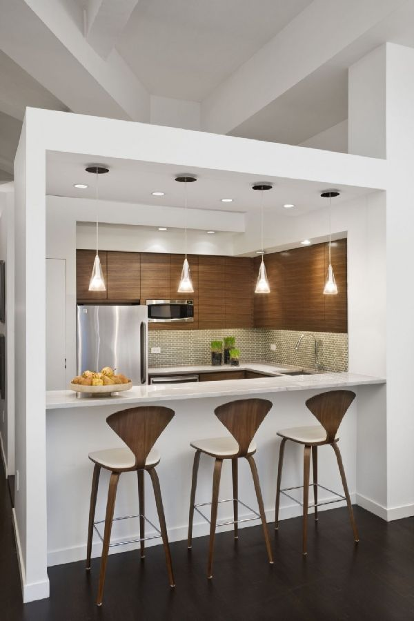 Fancy Chic Loft Style Apartment Kitchen Bars Redesign Ideas