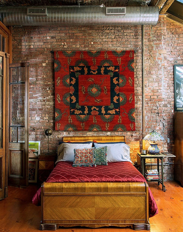 Industrial-bedroom-with-Moroccan-accents