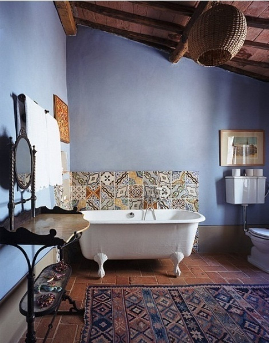 Moody Bohemian Bathroom