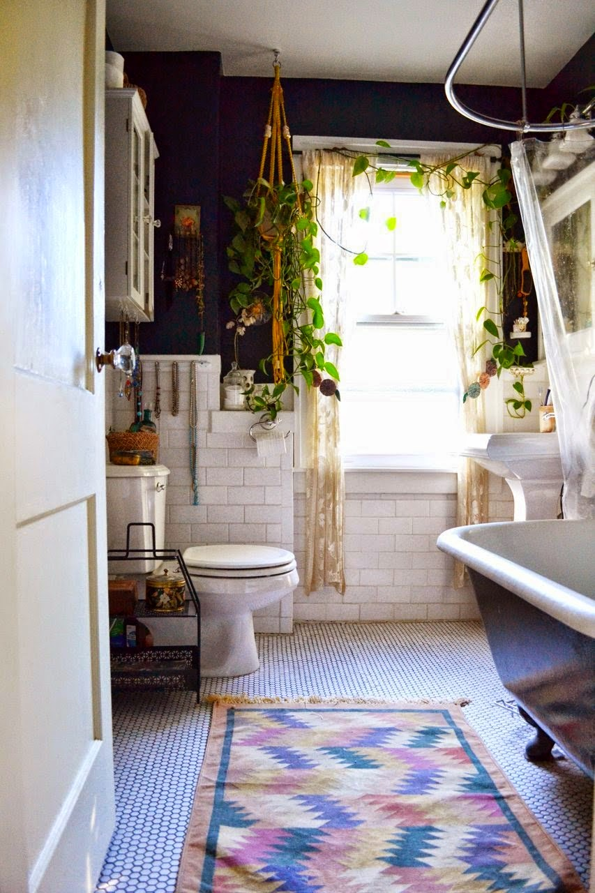 Vintage bohemian Bathroom