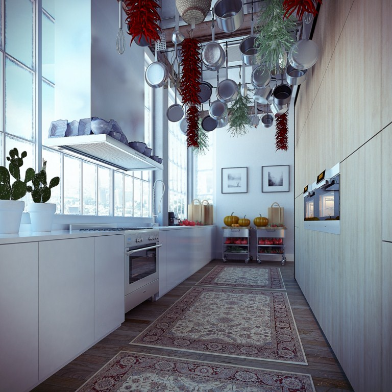 apartment-interior-narrow-industrial-loft-apartment-kitchen-design-ideas