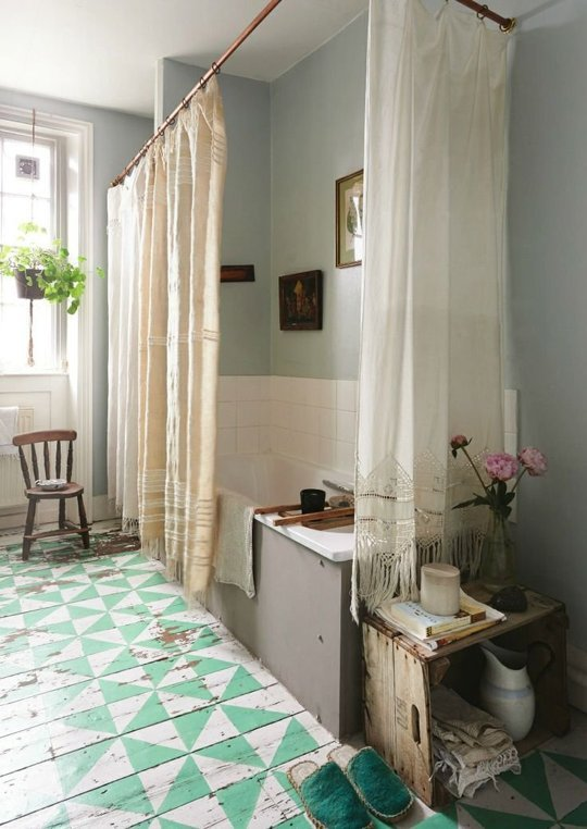 boho bathroom heaven