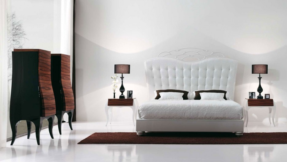 luxury-white-platform-bed-with-high-white-ruched-headboard