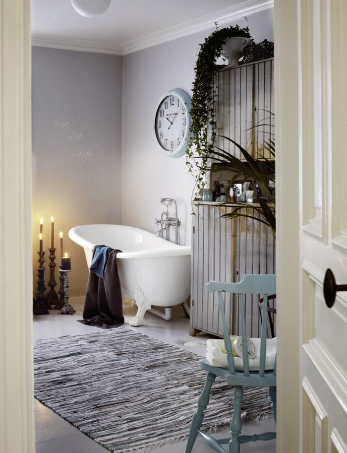 shabby-chic-bathroom-with-a-hearth-and-a-sideboard
