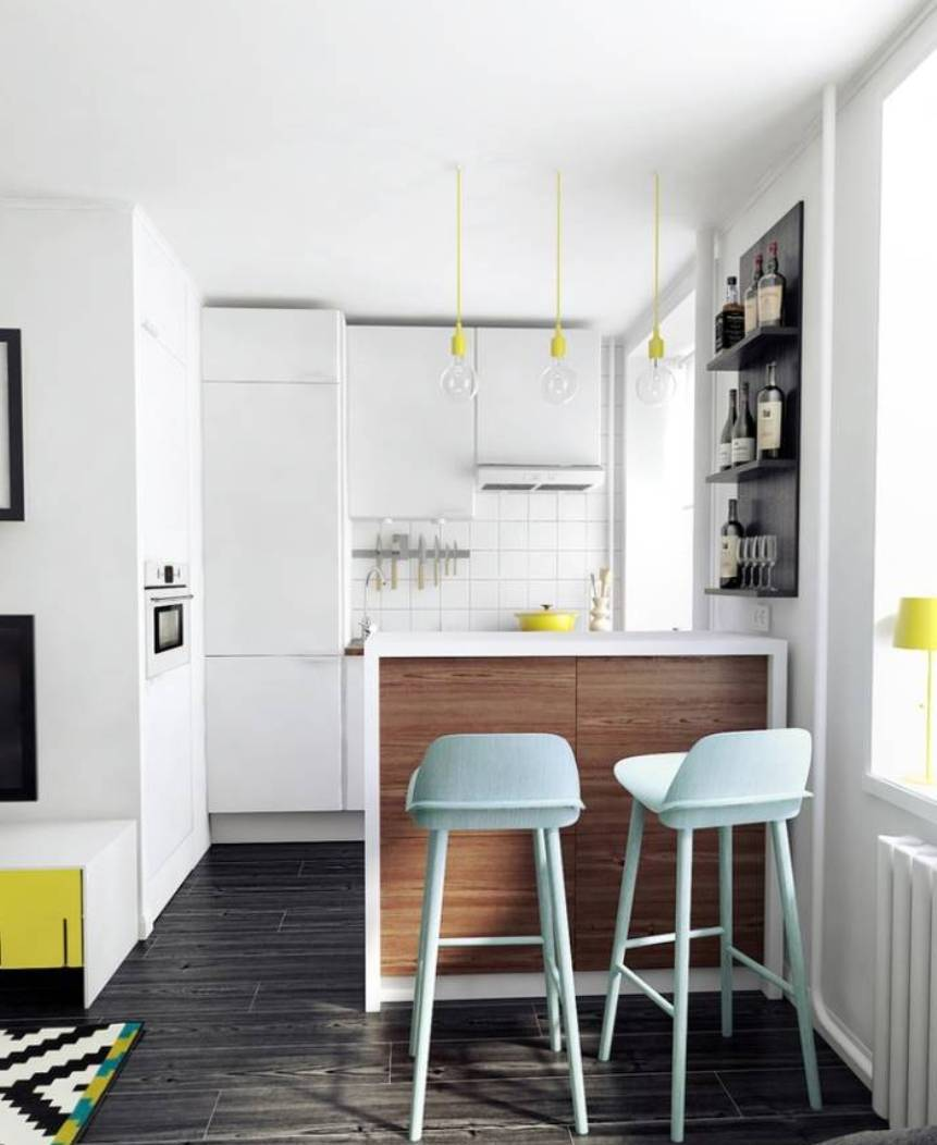 small-white-wall-and-ceiling-color-apartment-kitchen-ideas