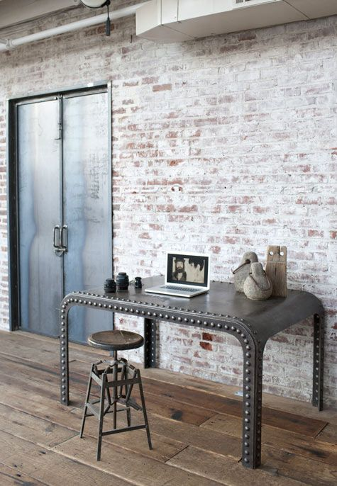 stunning-industrial-home-office-with-brick-walls