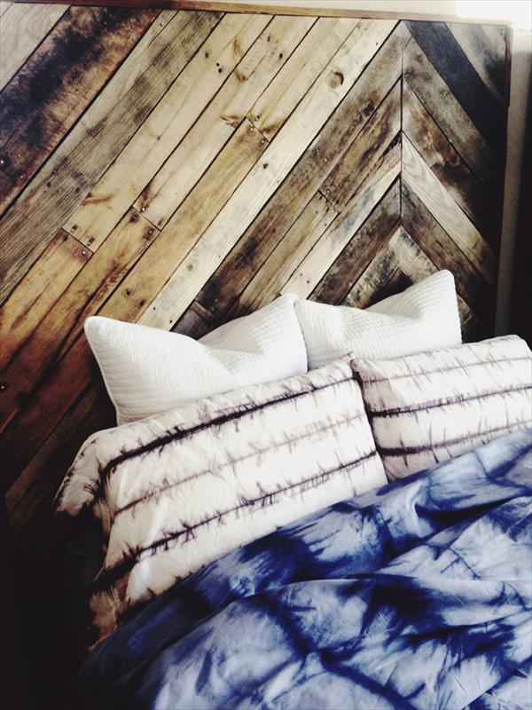 upcycled pallet twin headboard