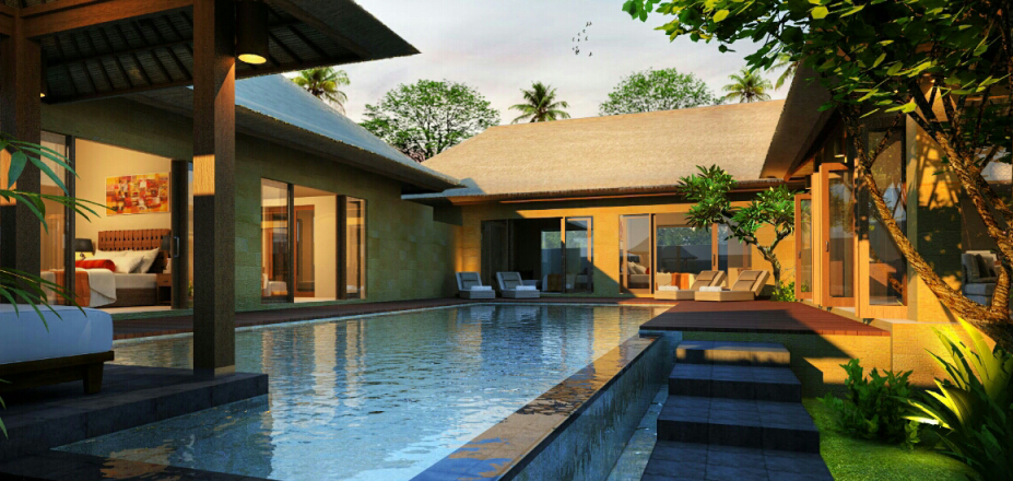 villa Tanjung with modern balinese architecture style