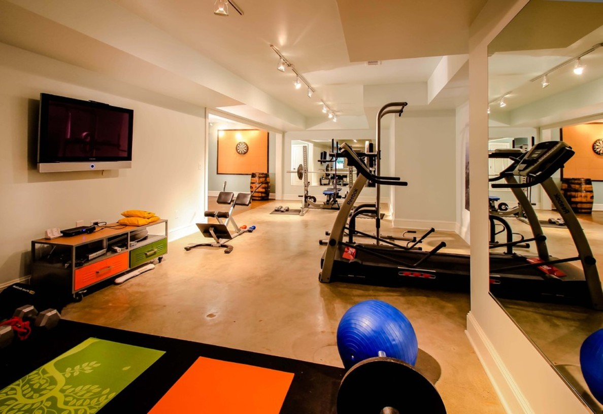 wonderful-home-gym-design-and-painting-design-gallery