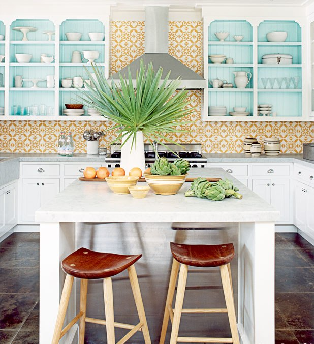 Colorful Tropical Kitchen