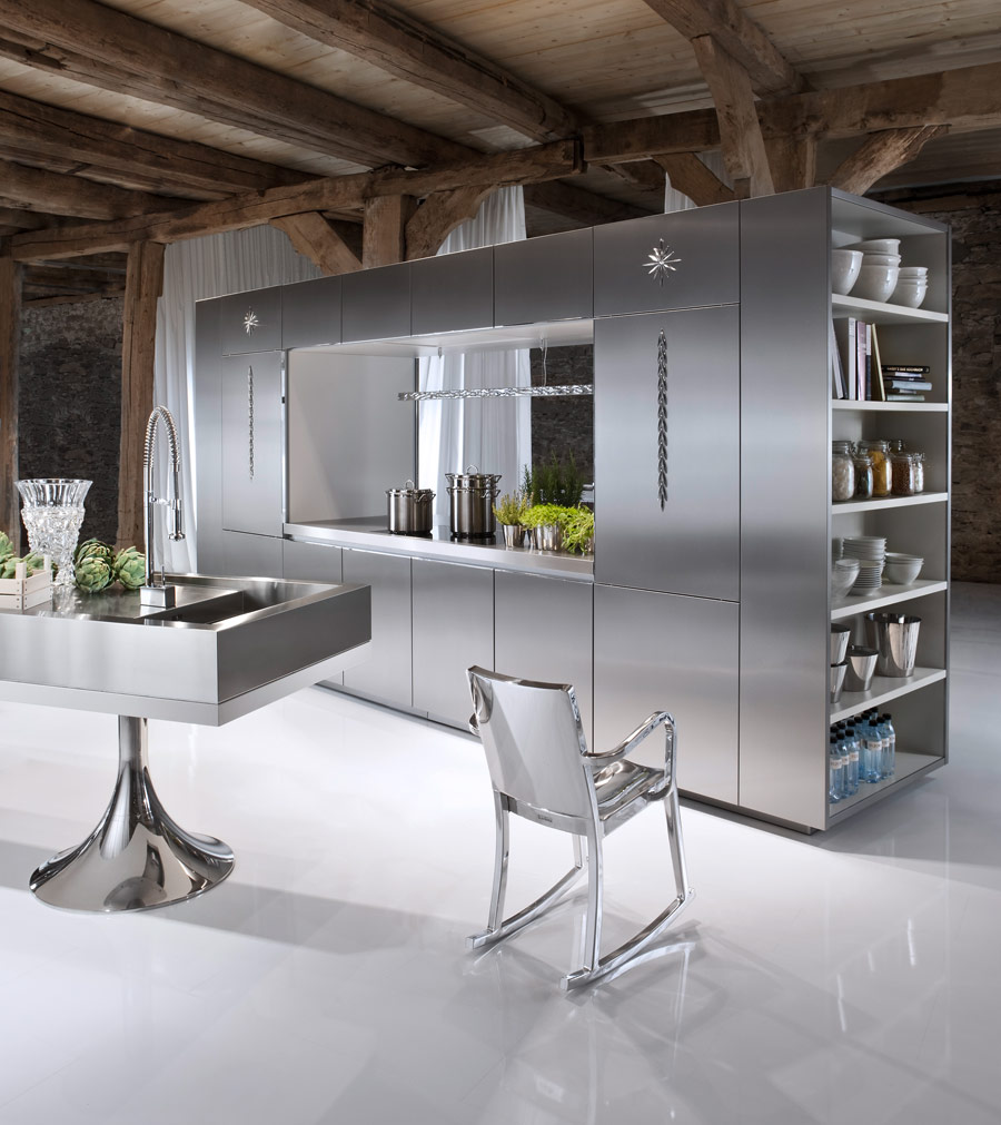 Cool Kitchen with Stainless Steel Cabinets