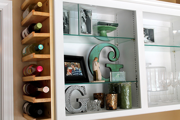 DIY Side of Cabinet Wine Rack