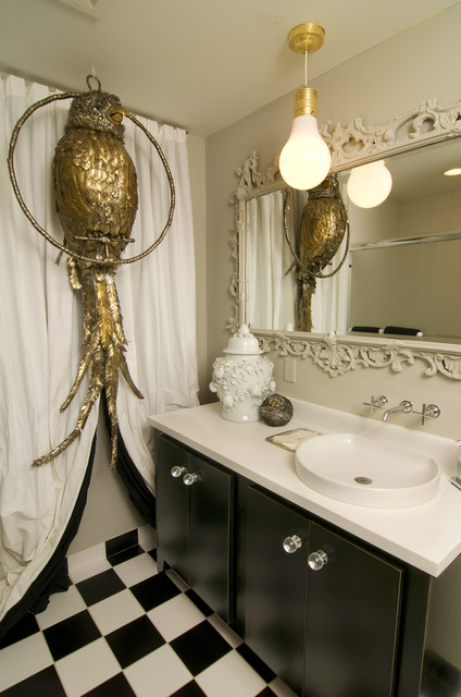 Glam Pop Art Eclectic Bathroom