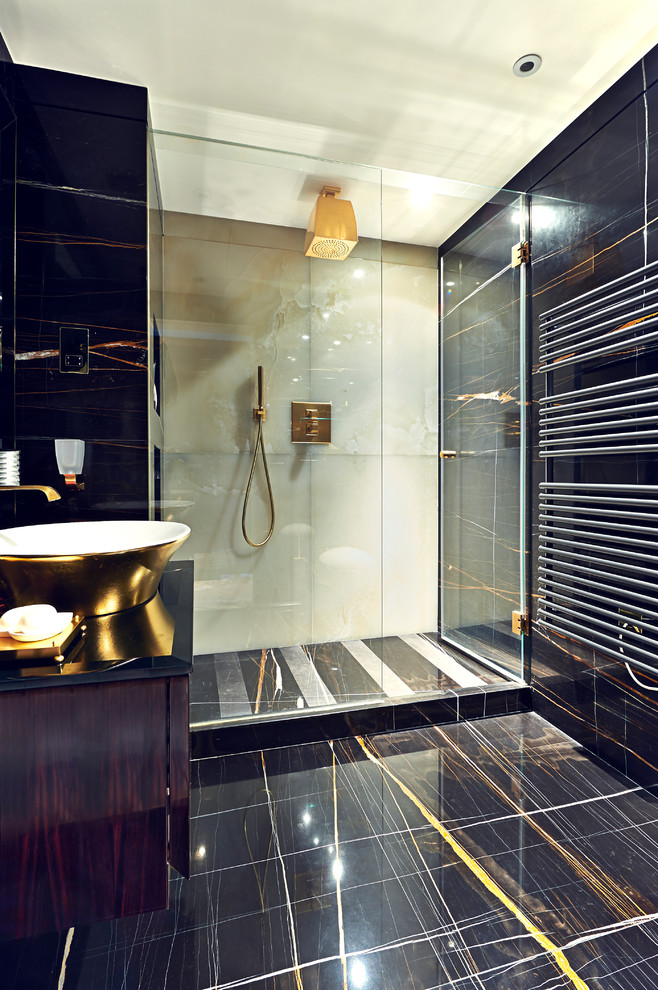 Glamorous Eclectic Chic Bathroom