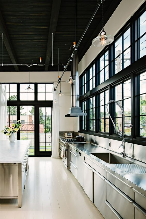Loft Stainless Steel Kitchen