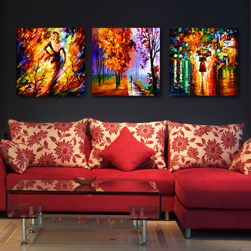 Modern-Oil-Canvas-Painting-For-Living-Room-Wall-Art-Prints-walking