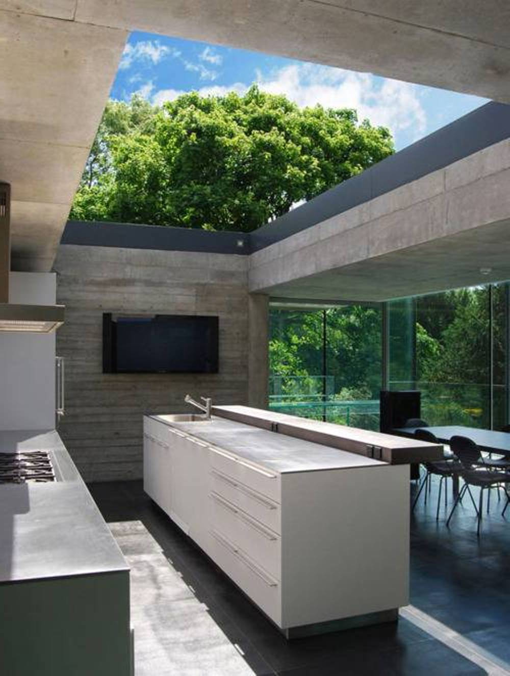 Modern Outdoor Kitchen and Dining