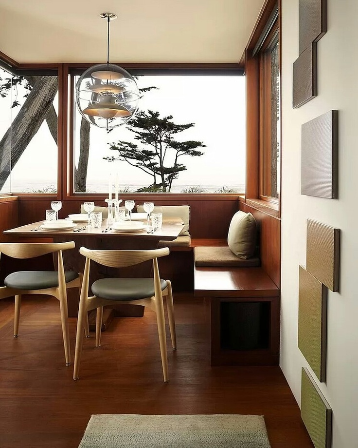 Modern breakfast nook with Wooden Flooring