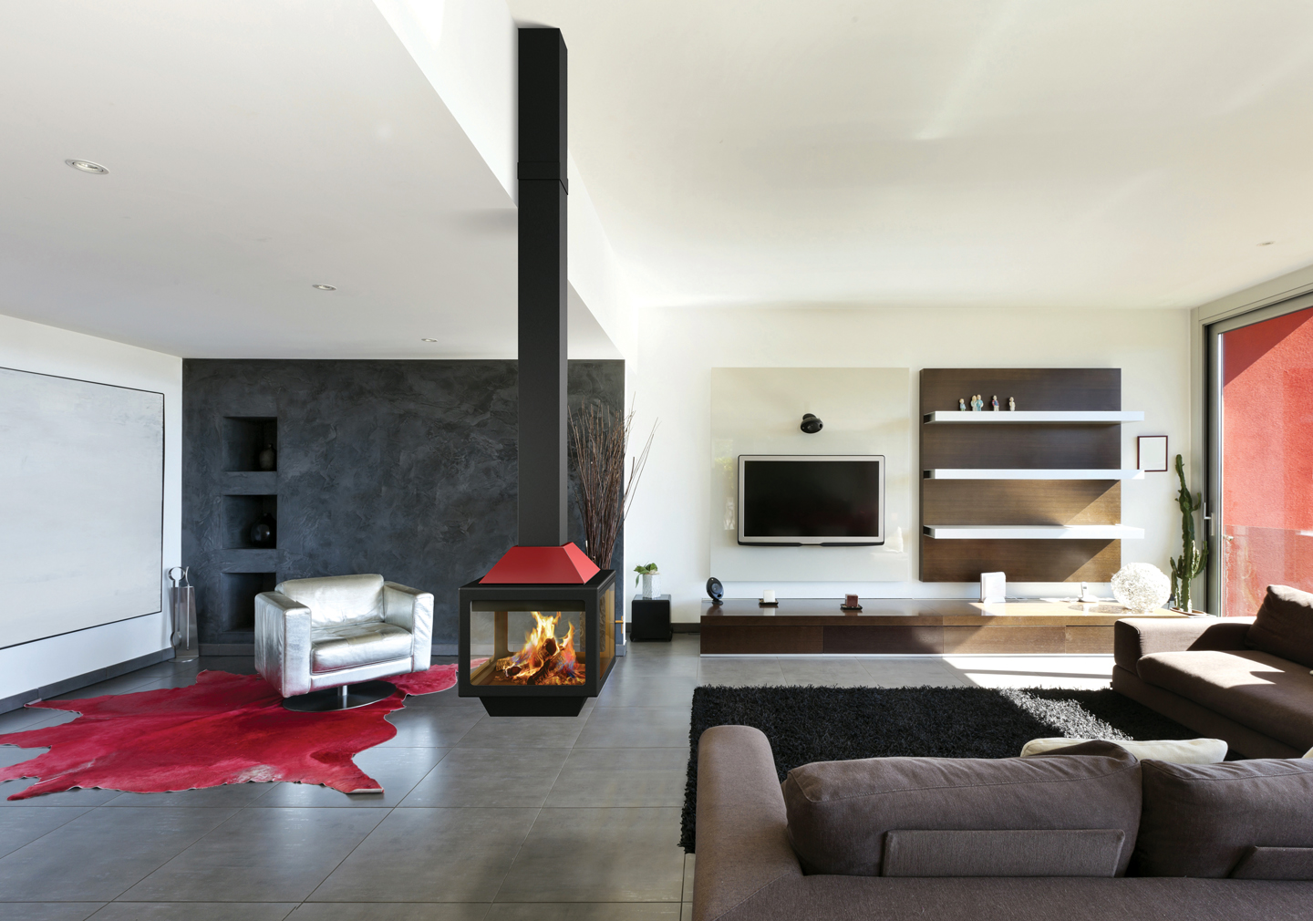 Sleek Modern Fireplace