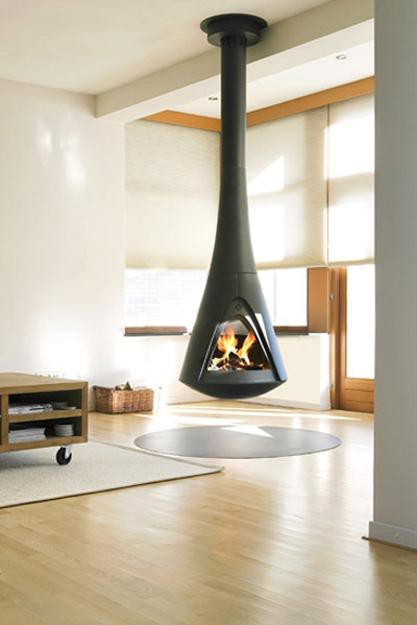 Suspended Ceiling Hanging Fireplace
