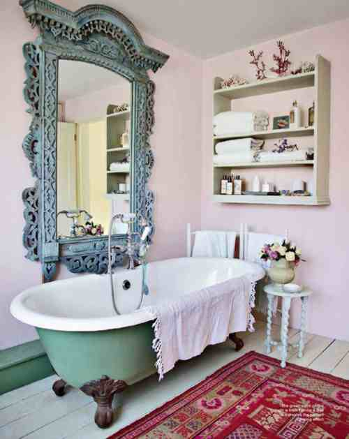 shabby chic bathroom decor ideas