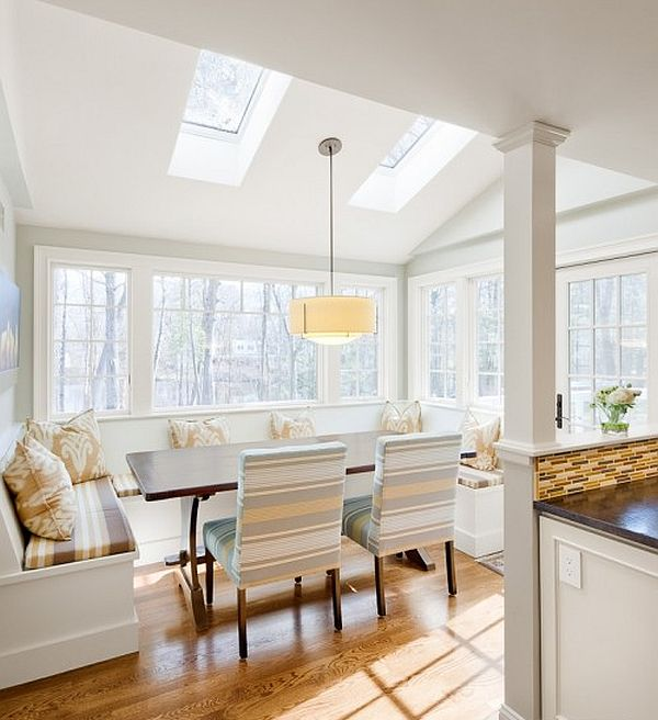 white-kitchen-design-with-fancy-breakfast-nook