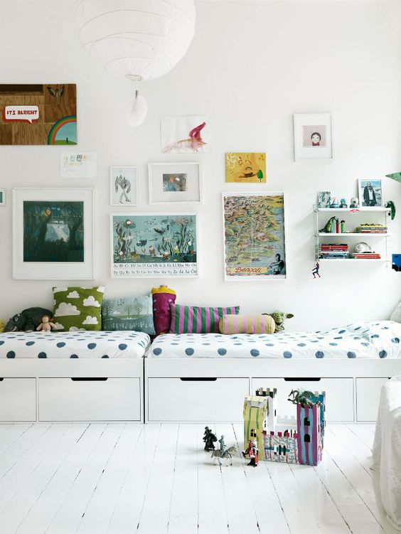 Beautiful shared bedroom for kids