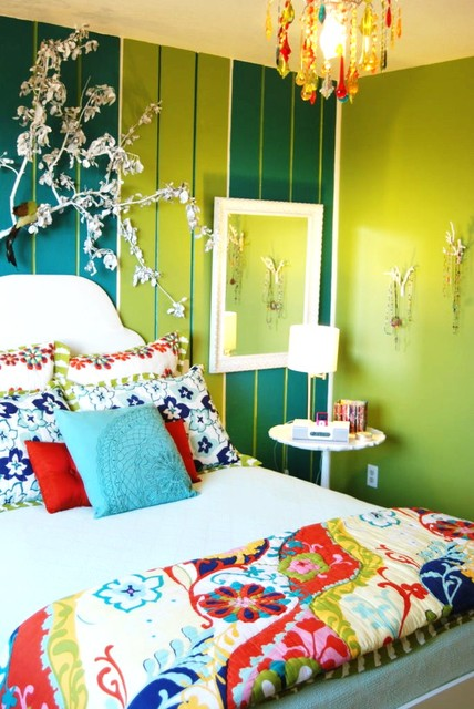 Color Fiesta Bedroom eclectic design