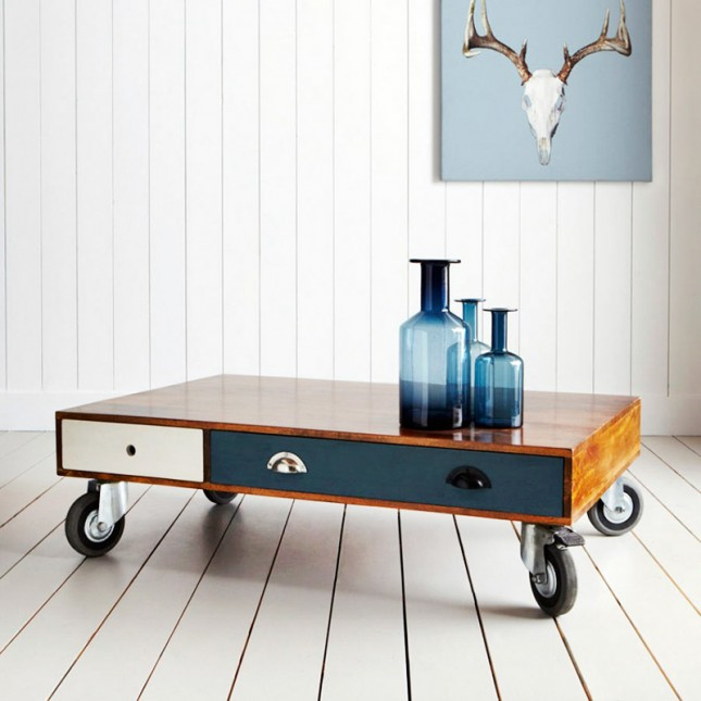 Colorful Drawer Pallet Coffee Table