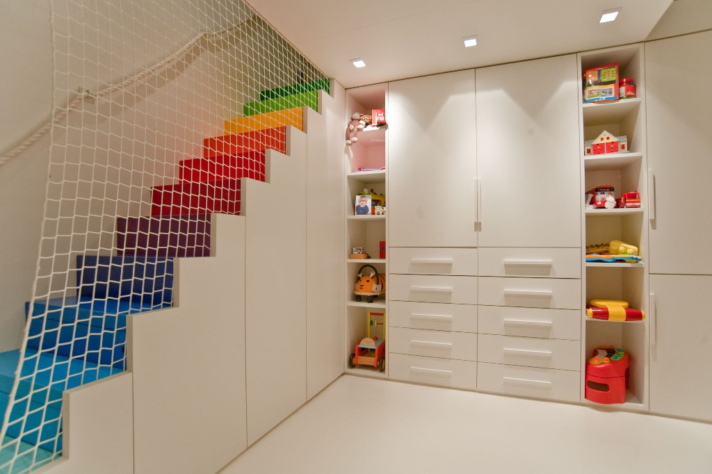 Decoration Interior Well Liked Kids Basement Playroom Ideas With Rainbow Step Stairs As Well As Charming