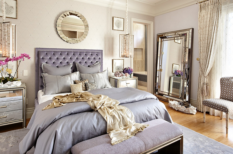 Luxurious eclectic bedroom