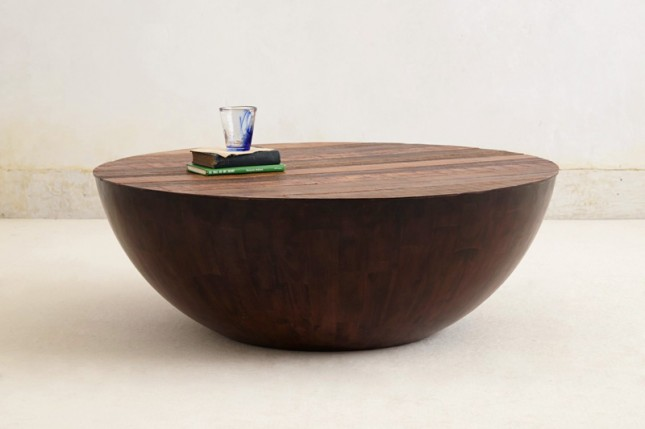 Round Half Bowl Shape Coffee Table