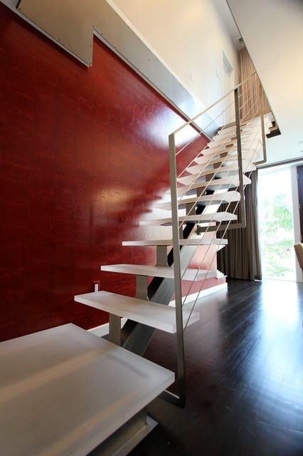 Stainless Steel Glass Stairs
