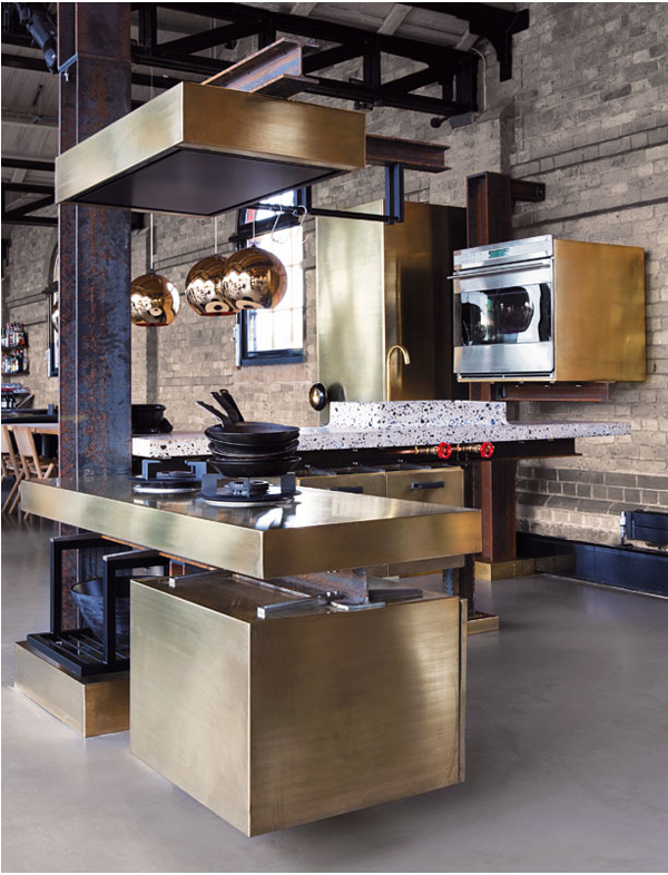 Tom-Dixon-brass-kitchen