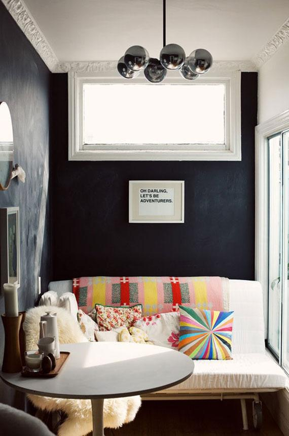 Using black in modern interior for different bold look