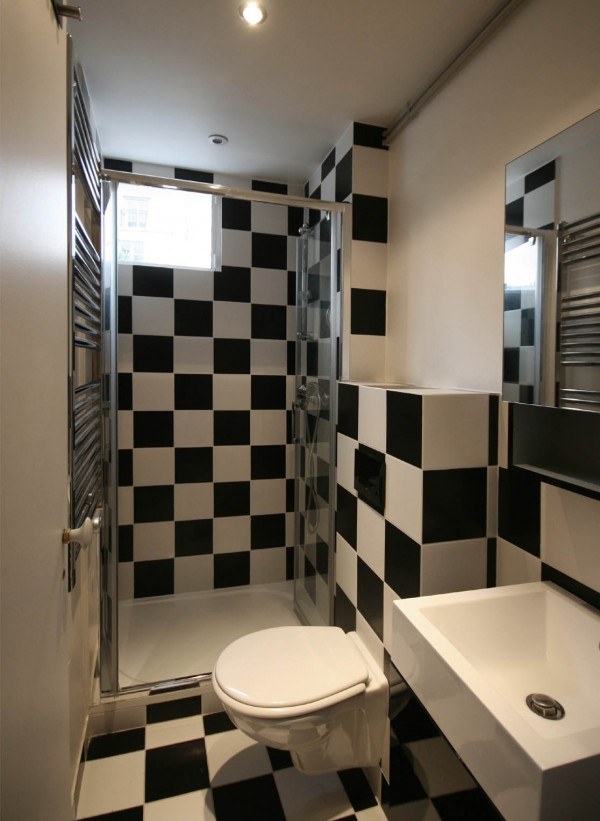 checkboard tiles bathroom design