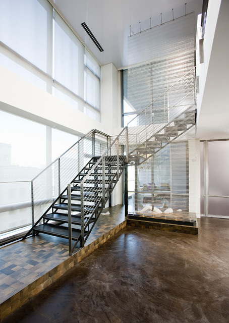 contemporary loft staircase idea