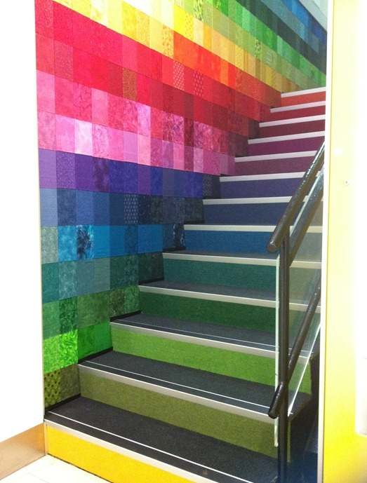 Coloring the internal stairs with rainbow colors