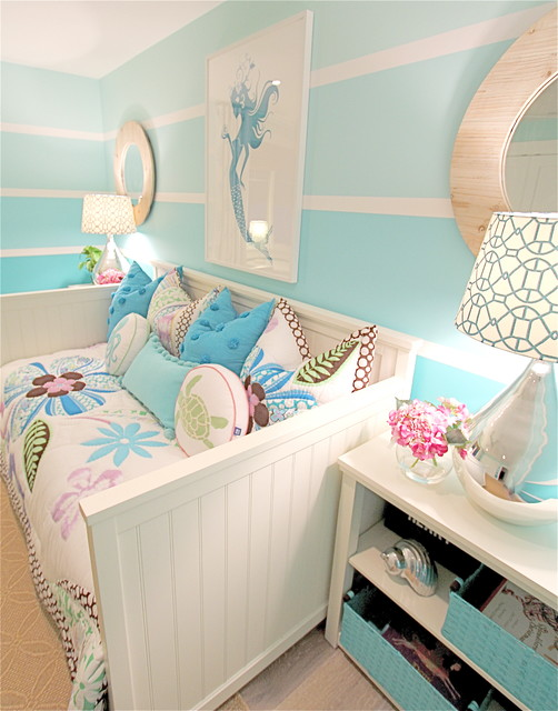 mermaid type beach style bedroom