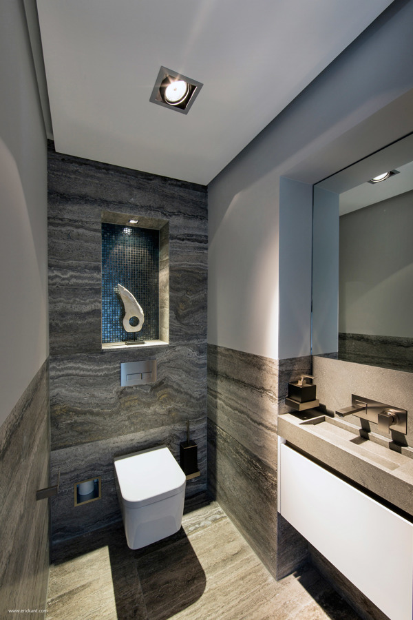 sleek ultramodern bathroom