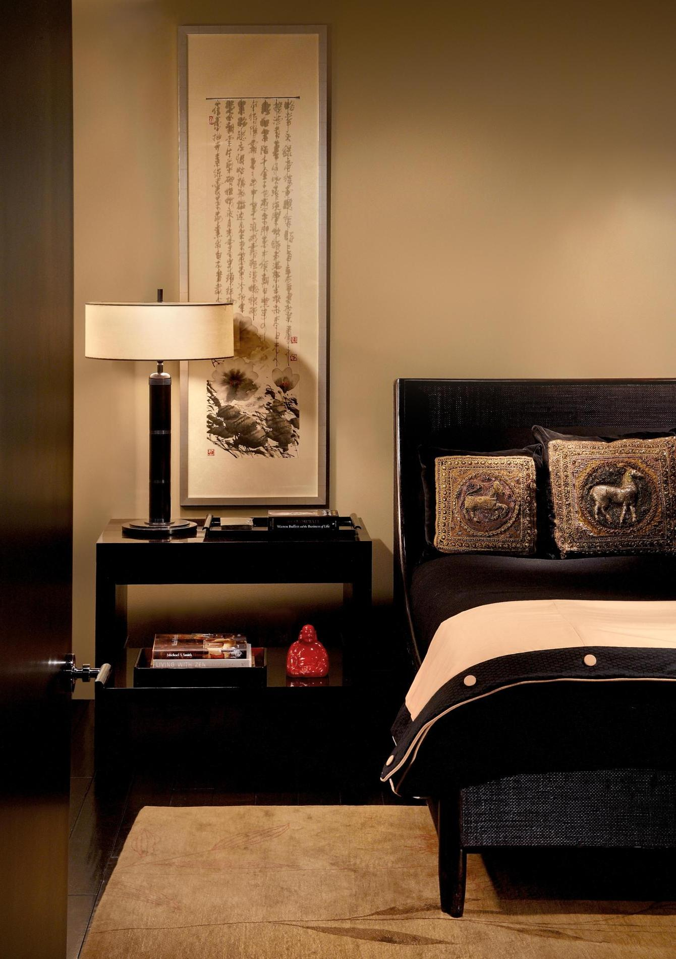 Asian Inspired Bedroom For The Side View